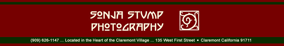 Sonja Stump Photography (909) 626-1147 - Claremont Village CA 91711 - 135 W. First St. - 909-626-1147